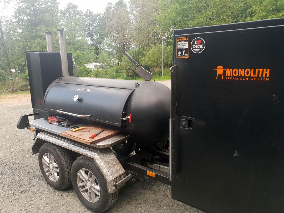 Iron BBQ Smoker